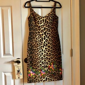 MEOW! Super sexy Moschino leopard + floral dress
